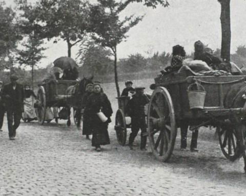 Exode en Belgique, août 1914. © Archives Belgian Defense/DG Com