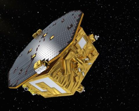 Le démonstrateur technologique européen LISA Pathfinder vient de quitter la Terre pour sa zone de travail : le point de Lagrange L1. © ESA