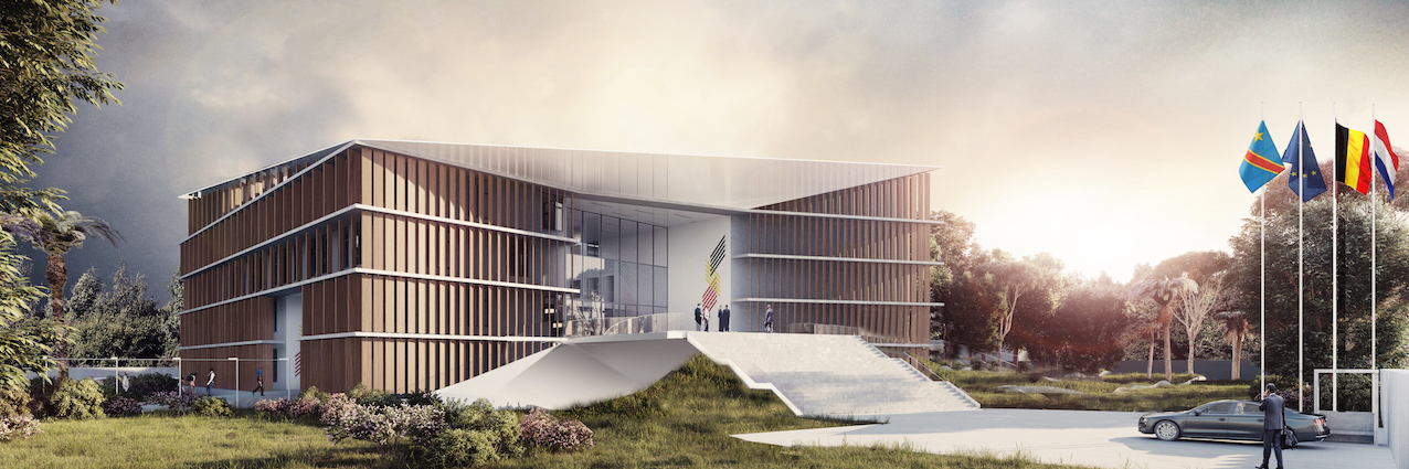 """Le nouveau bâtiment diplomatique belge à Kinshasa sera largement """"durable""""."""