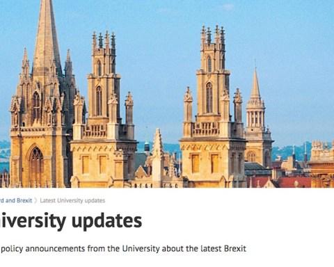 A l'Université d'Oxford comme ailleurs au Royaume-Uni, le Brexit mobilise la communauté académique.