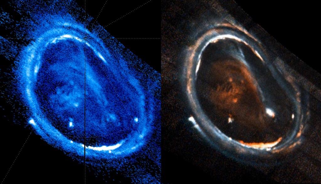 Aurore boréale sur Jupiter. © Gladstone & Bonfond.