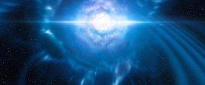 Fusion de deux étoiles à neutrons et ondes gravitationnelles. (Interprétation artistique) © ESO