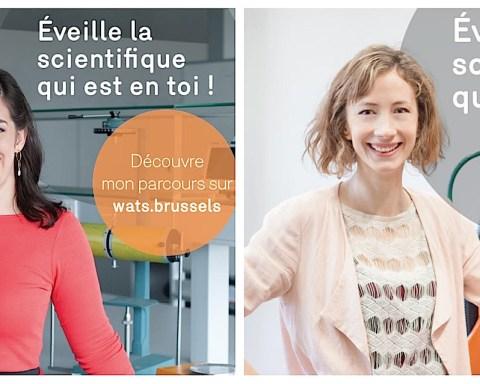 """Lieve Lambrechts (à gauche) et Elise Elsacker, premier et deuxième prix du concours bruxellois """"WATS""""."""