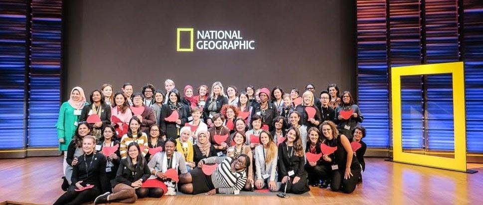 Les participantes au programme 2018 «Hidden no more: advancing women in STEM fields», en visite au siège de la National Geographic Society.