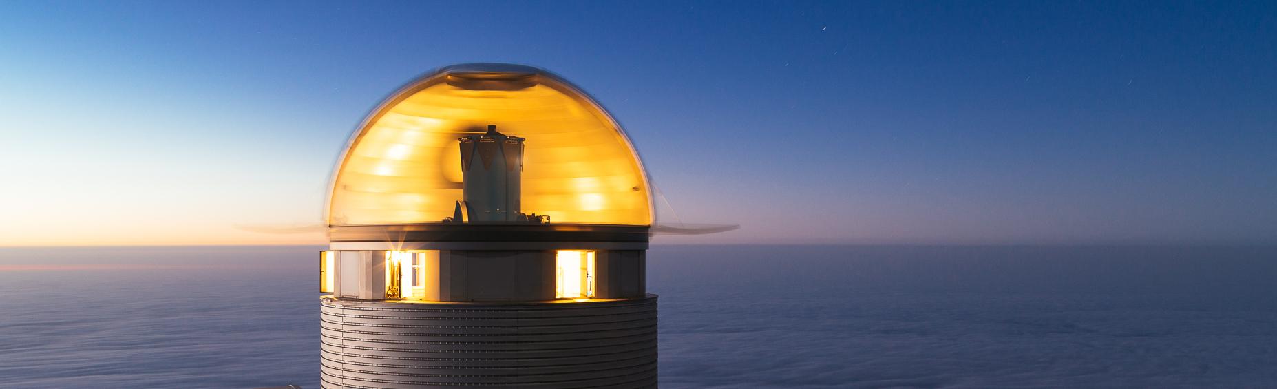 Télescope Mercator, Roque de Los Muchachos. © Peter Papics