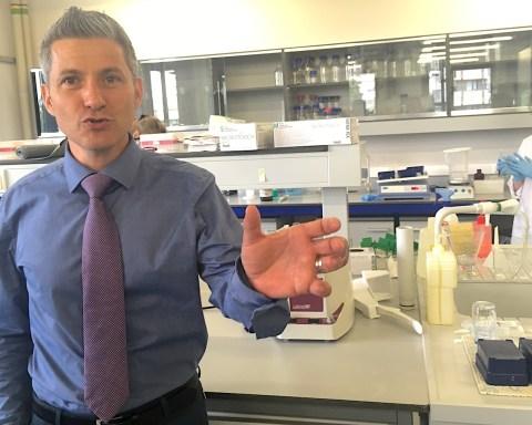 Le Pr Patrice Cani, dans son laboratoire, au Louvain Drug Research Institute, à Bruxelles, le 1er juillet 2019.