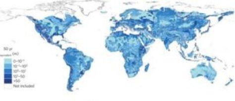 Distribution mondiale des eaux souterraines modernes