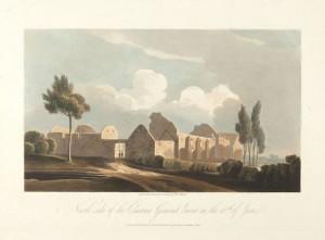 De la série «engraved by R. Reeve »: la ferme-château d'Hougoumont a été durement touchée durant les combats ©Bibliothèque royale de Belgique