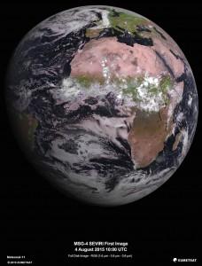 Première image prise par MSG-4.