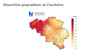 IRM septembre insolation Belgique