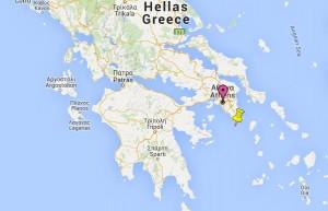Localisation du site archéologique de Thorikos.
