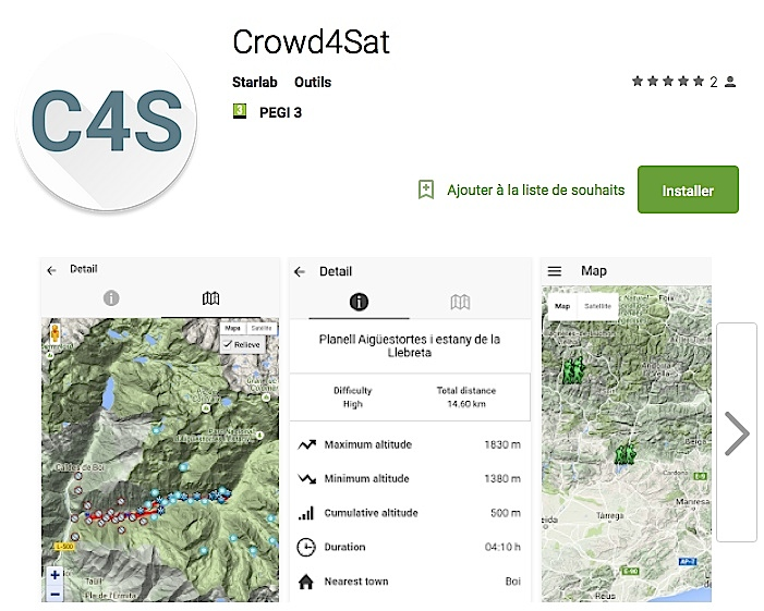 "Application ""Crowd4Sat""."