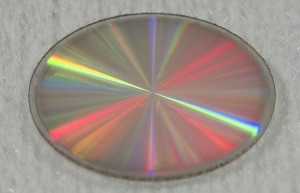 Masque de phase vortex. Le composant fait 1 cm de diamètre. © ULg