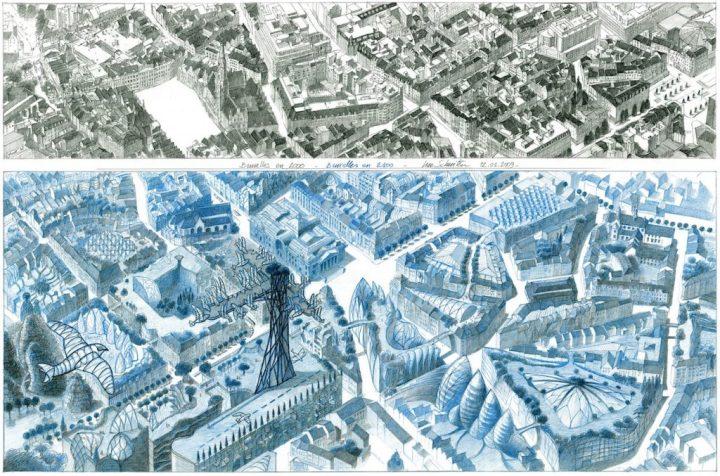 Bruxelles 2000 - 2100. © Luc Schuiten