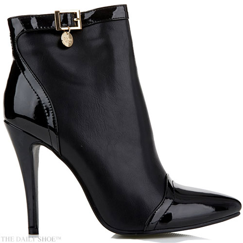 MAIN IMAGE -Black Stiletto Ankle Boots by POLO