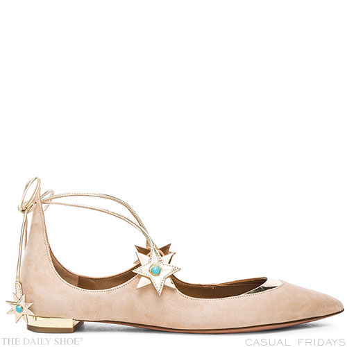 CASUAL FRIDAY! Poppy Delevigne Ballerinas by AQUAZZURA on The Daily Shoe®