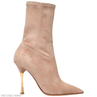 Valentino Twisteel Stretch Suede Ankle Boots