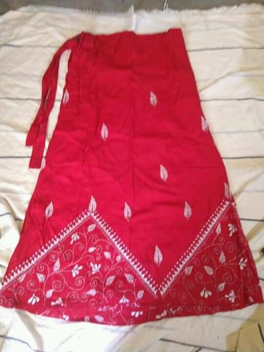 Handloom Cotton Kantha Stich Wrap Skirt (5)