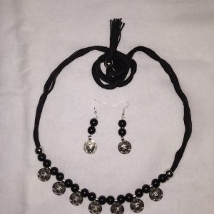 Shantiniketan Black beaded Necklace