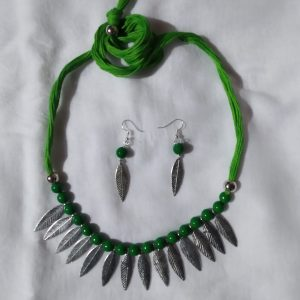 Shantiniketan Green beaded Necklace