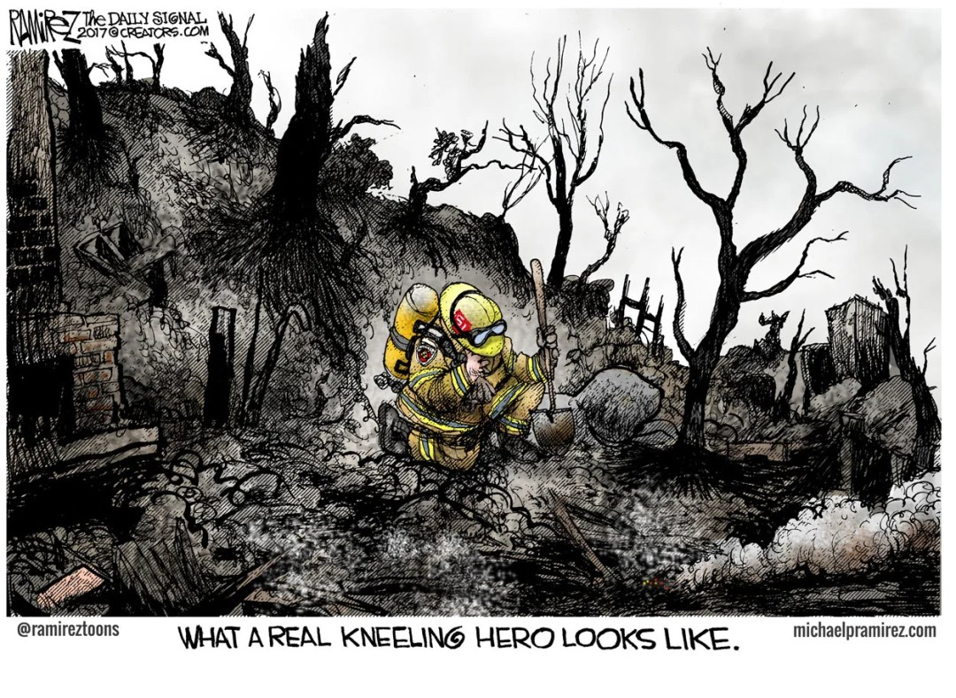 Cartoon: Honoring California Firefighters