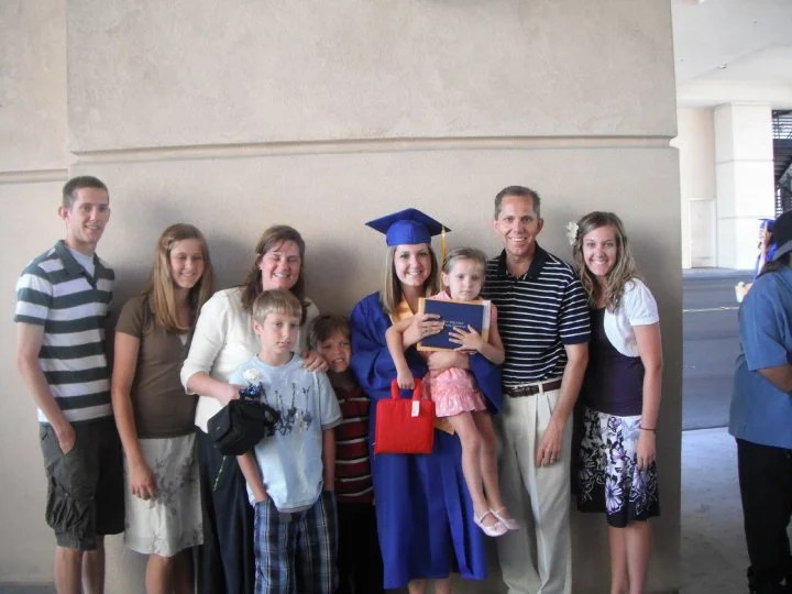On June 10, 2010, the family celebrates Lindsey Robbins' high school graduation. (Photo: Robbins family)