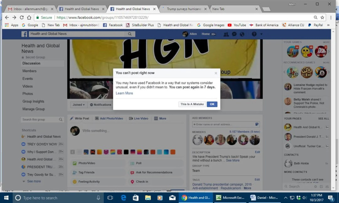 Facebook Censors His Conservative Posts, Retired Accountant Contends