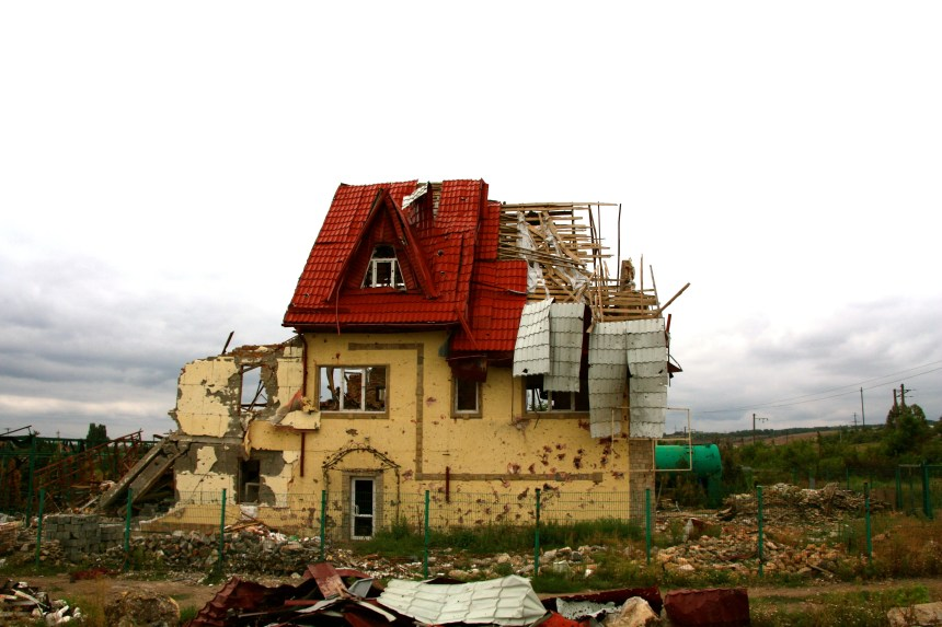 The Ukraine war has destroyed villages along the 200-mile-long front line.
