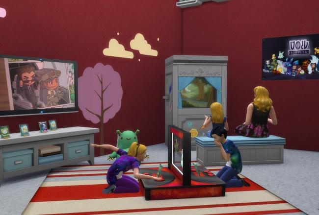 Les Sims 4 Chambre D Enfants La Station De Bataille Les Creatures Du Vide Le Theatre De Marionnettes Et Plus Daily Sims