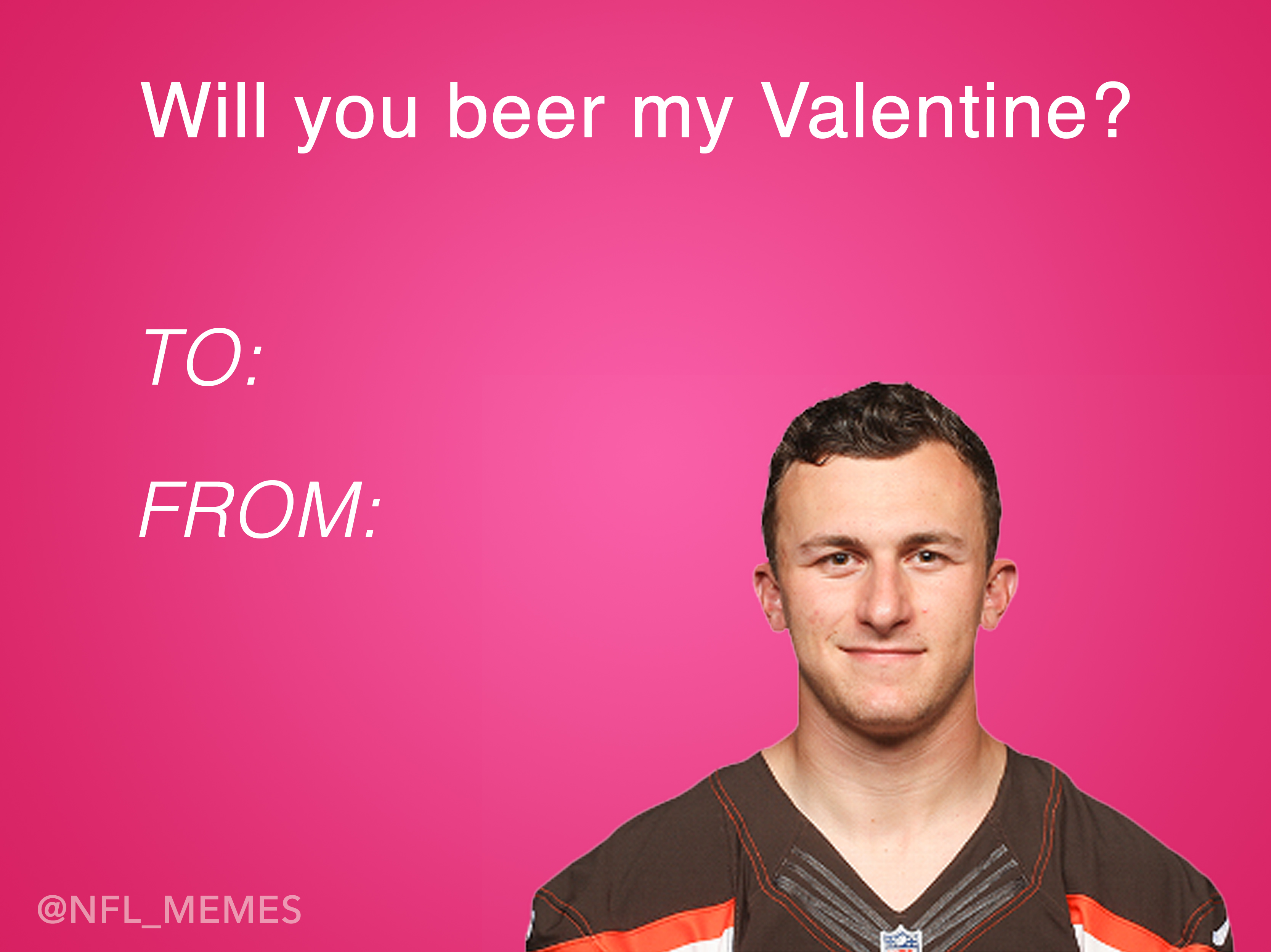 This Years Batch Of NFL Themed Valentines Day Cards