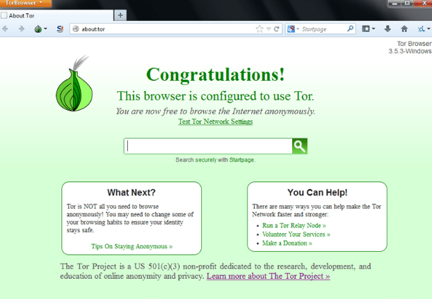 Tor Browser windows