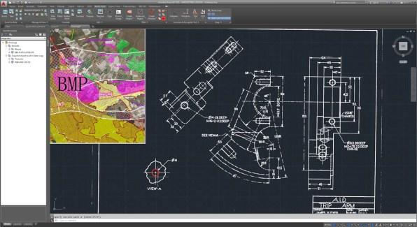 Autodesk AutoCAD Raster Design windows