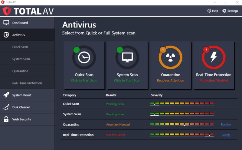 Total AV Antivirus windows