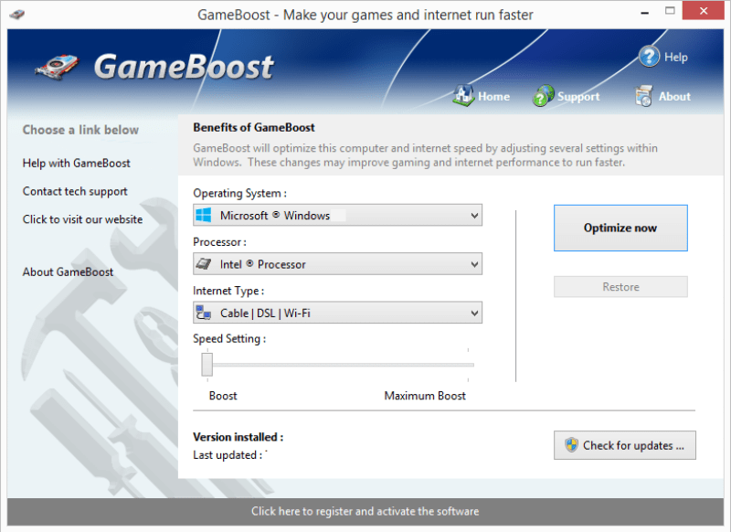 PGWare GameBoost windows