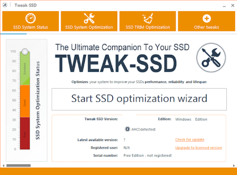 Tweak SSD windows