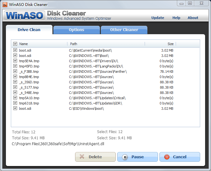 WinASO Disk Cleaner windows