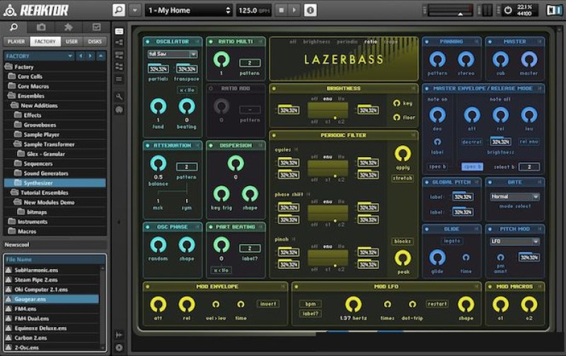 Native Instruments Reaktor windows