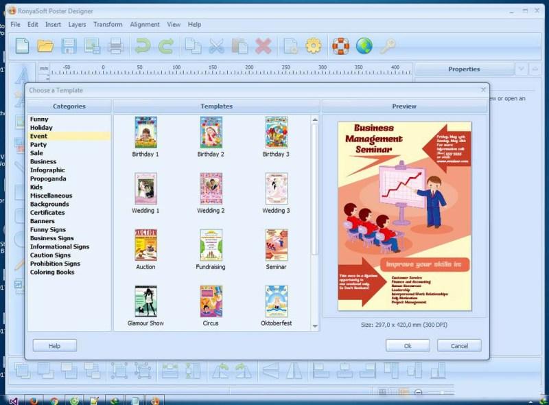 RonyaSoft Poster Designer windows
