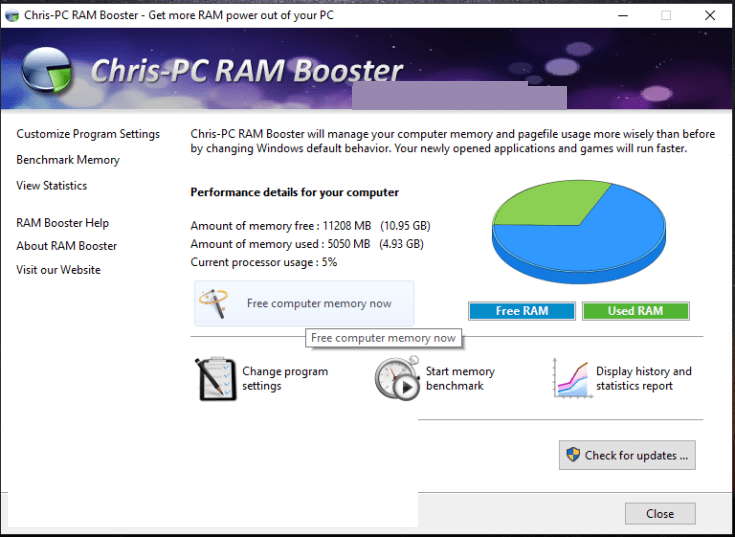 ChrisPC RAM Booster windows