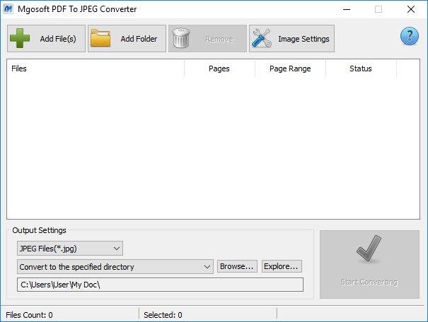 Mgosoft PDF To JPEG Converter windows