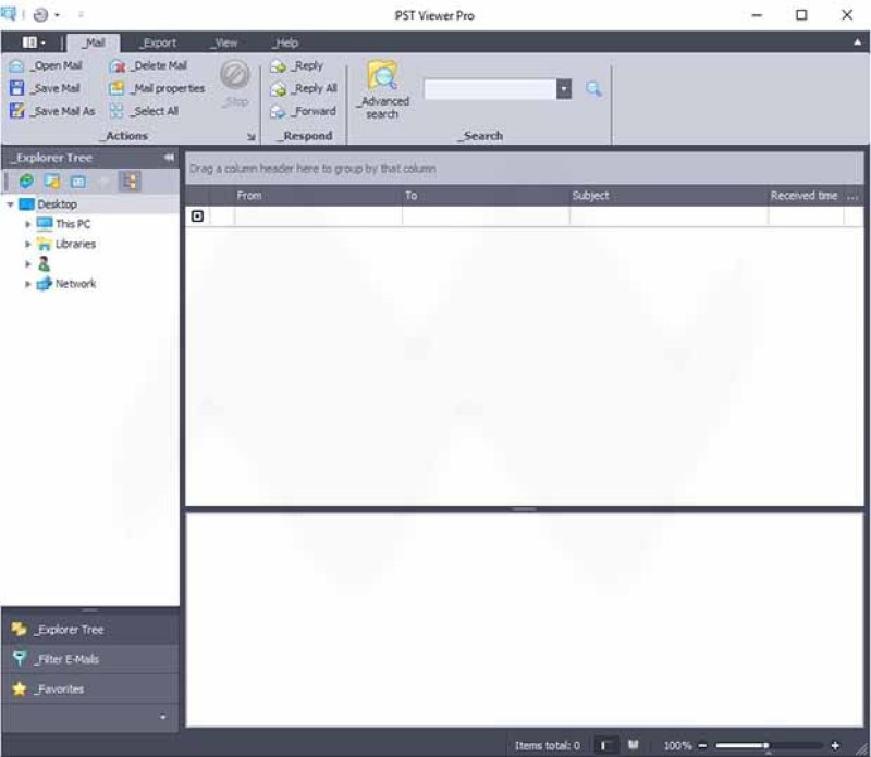 PstViewer Pro windows