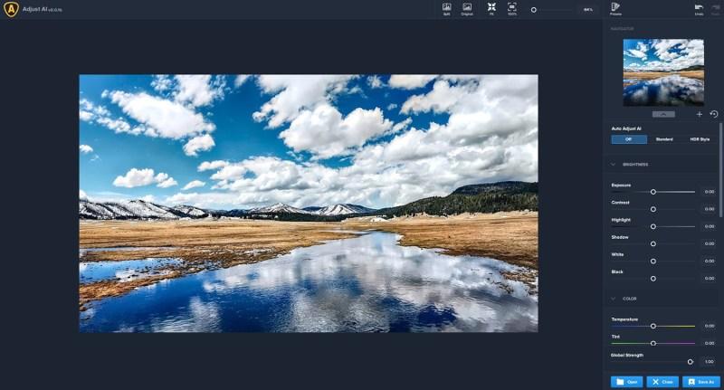 Topaz Adjust AI windows