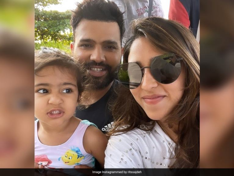 "Rohit Sharma's Wife Ritika Sajdeh Shares Picture Of Her ""Two Babies"""