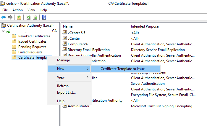 Migrating active directory from 2008 r2 to 2016 dailysysadmin a quick tip make sure that you enable the new certificate template after you have created it by opening the ca consoleright clicking on certificate yadclub Image collections