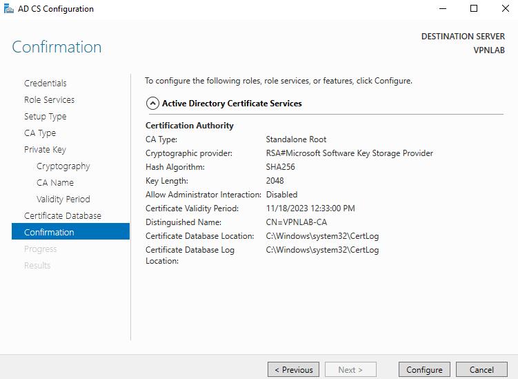 Create a Standalone Certificate Authority in Windows Server