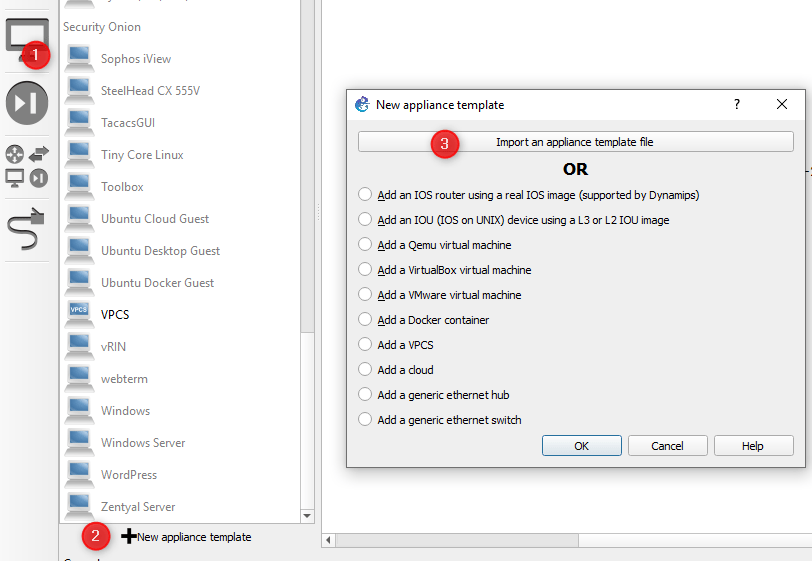 Setting up GNS3 in Windows and adding a Cisco Nexus NX-OS