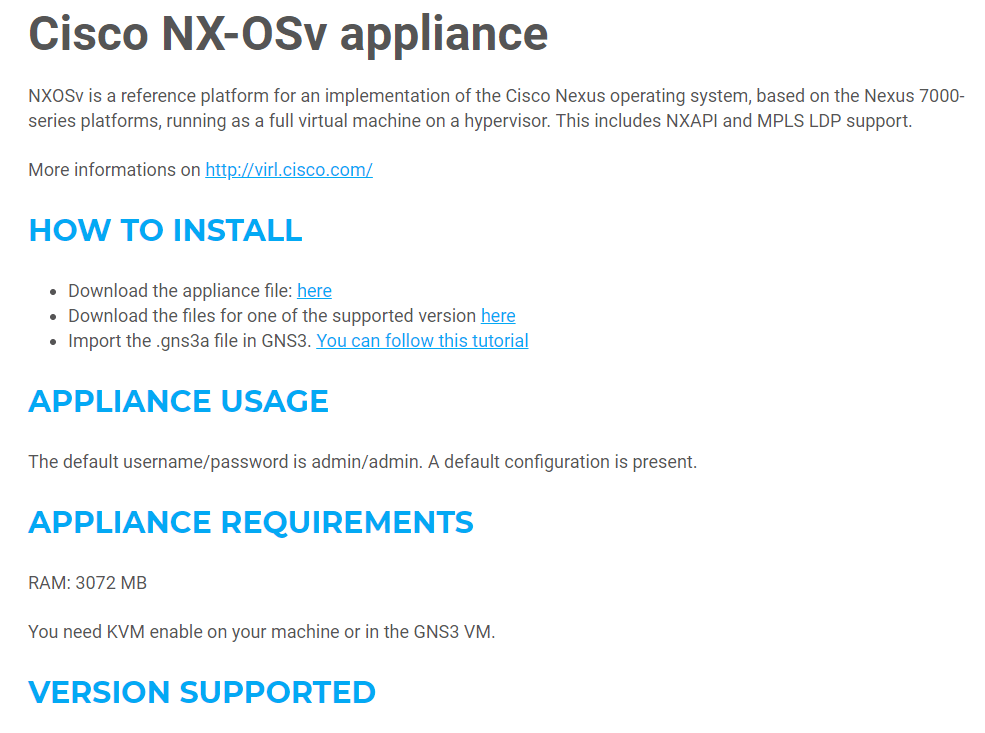 Setting up GNS3 in Windows and adding a Cisco Nexus NX-OS device