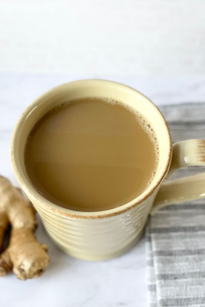 ginger chai close up