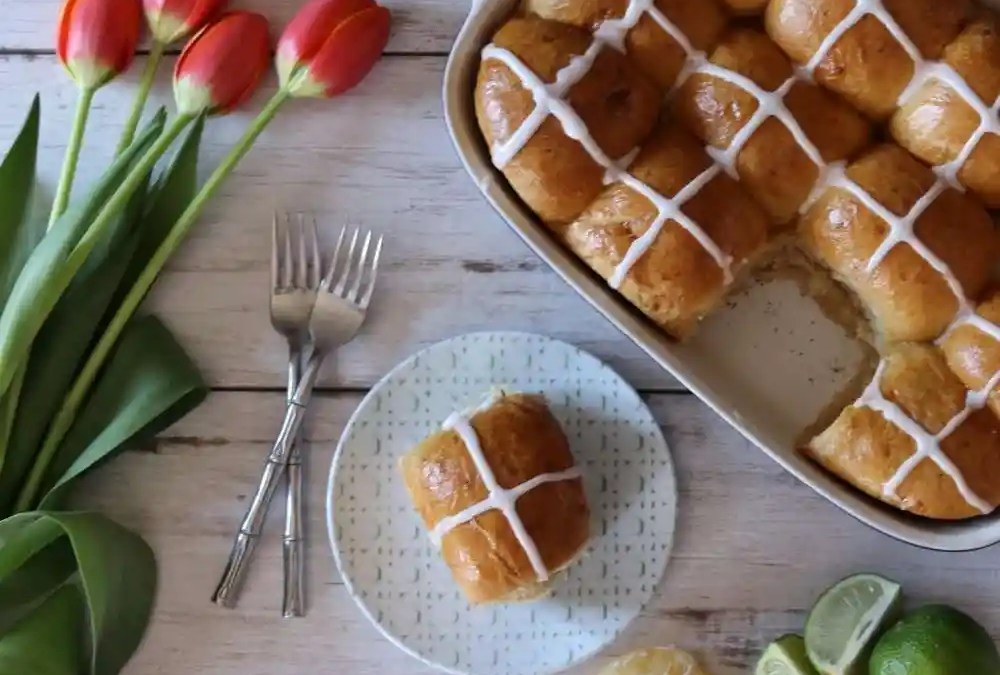 Sun's Out, Buns Out! Tropical Hot Cross Buns