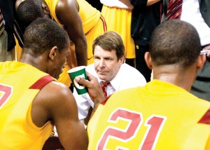 Long gone · Former men's basketball coach Tim Floyd resigned from the team in June amid allegations that he gave cash to a confidant of O.J. Mayo's. The public relations storm around the university has been fierce. - Nathaniel Gonzalez | Daily Trojan